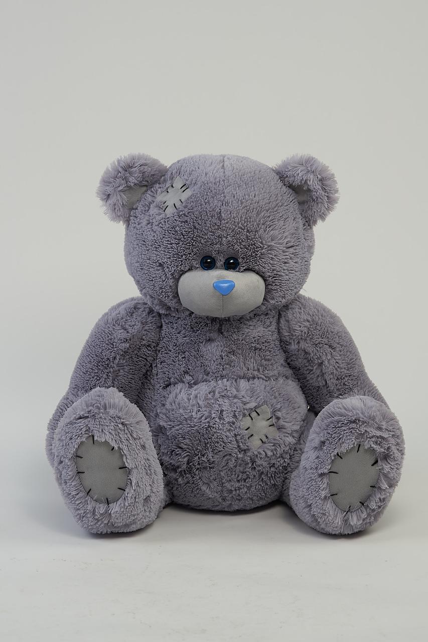 Плюшевый мишка Тедди 90 см цвет серый | Плюшевые медведи | Магазин плюшевые медведи