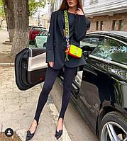 """Лосіни жіночі стильні однотонні розміри S-L (чорний)""""IRINA"""" купити недорого від прямого постачальника"""