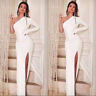 Вечернее платье ассиметричное на одно плечо облегающее в пол
