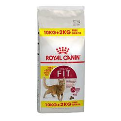 Корм Royal Canin Fit 32 повсякденний корм для дорослих котів 10 кг + 2 кг у подарунок