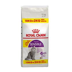 Корм Royal Canin Sensible для котів з чутливим травленням 10 кг + 2 кг у подарунок