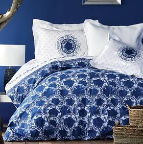 Постільна білизна Karaca Home ранфорс - Belina mavi блакитний євро