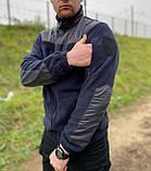 КОФТА ФЛІСОВА ТЕМНО-СИНЯ, фото 3