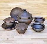 Набір гончарного посуду на дві особини, фото 3