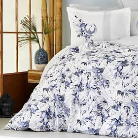 Постільна білизна Karaca Home ранфорс - Teru mavi блакитний євро