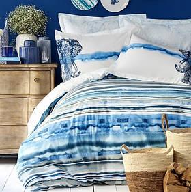 Постільна білизна Karaca Home ранфорс - Nalini mavi блакитний євро