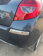 Renault Clio III 2005-2012 гг. Накладка на задний бампер уголки (нерж)