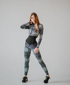 Спортивный комбинезон для фитнеса NV California Snake