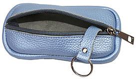 Ключница, чехол для ключей из кожи ALWAYS WILD 010-55-12 голубая