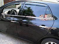 Toyota Auris 2007-2012 гг. Молдинг стекол (4 шт, нерж) Carmos - Турецкая сталь
