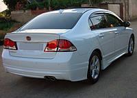 Honda Civic Sedan VIII 2006-2011 гг. Накладка на задний бампер (под покраску)