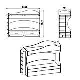 Двухъярусная кровать Бриз, фото 3