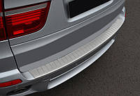 BMW 1 серия E81/82/87/88 2004-2011 гг. Накладка на задний бампер OmsaLine (нерж.)