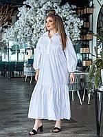 Женское длинное платье-рубашка батал, фото 1