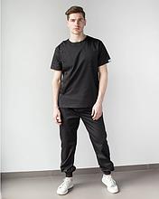 Медицинский костюм мужской Техас черный 46-56