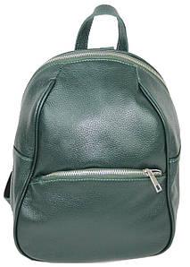 Шкіряний жіночий рюкзак Borsacomoda зелений 9 л