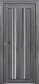 Двері Новий Стиль Верона С1 скло Графіт, Перли графіт, 600