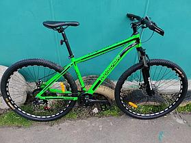 Двухколесный горный спортивный велосипед 26 дюймов Toprider 680 салатовый