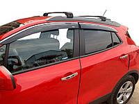 Opel Mokka 2012↗ гг. Ветровики с хромом (4 шт, Niken)