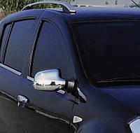 Nissan Terrano 2014↗ гг. Накладки на зеркала вариант 2 (2 шт) Хромированный пластик