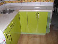 Кухня пластик на МДФ в Т-профіль