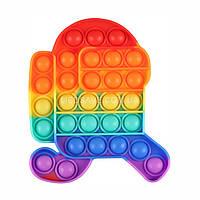 Pop It Among Us сенсорная игрушка-антистресс Поп Ит, игрушки антистресс для детей, вечная пупырка bouble push