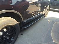 Ford Kuga 2008-2013 гг. Боковые пороги Tayga Black (2 шт., алюминий)