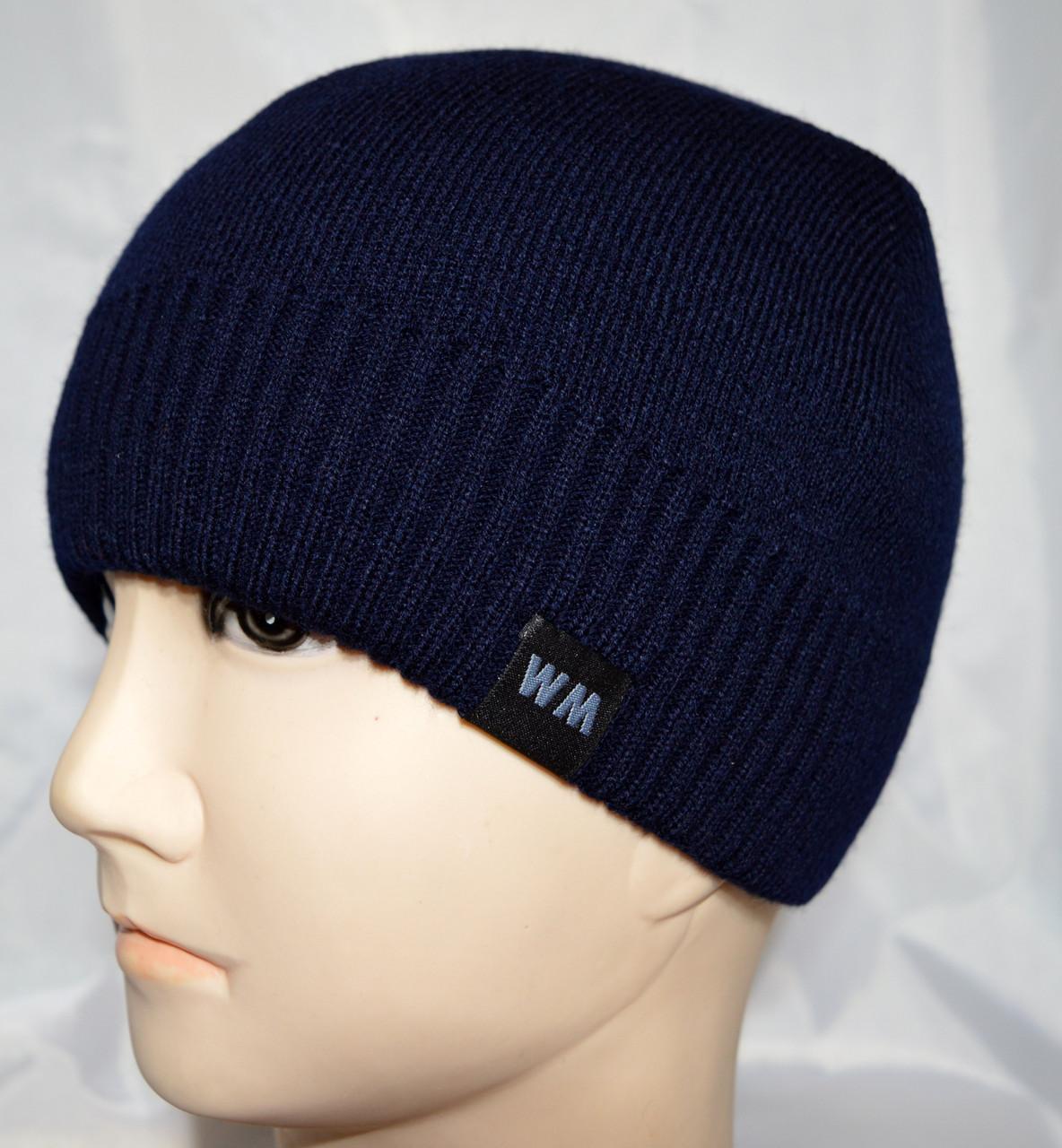 Двойная вязаная шапка на флисе