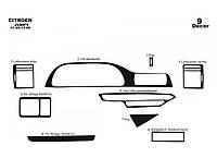 Fiat Scudo 1996-2007 гг. Накладки на панель (Meric) Карбон