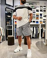 Мужской стильный спортивный костюм шорты и футболка, фото 1
