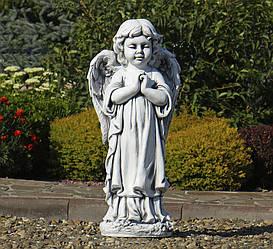 Садовая парковая  фигура Ангел молящийся стоя 35x25x72 см  Серый
