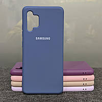 Чехол для Samsung A32 силиконовый противоударный Silicone Case синий