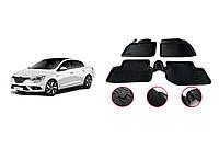Renault Megane IV 2016↗ гг. Резиновые коврики (4 шт, Niken 3D)
