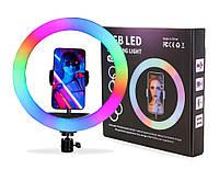 """Кільцева селфи лампа RGB 8"""""""
