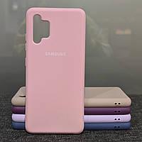 Чехол для Samsung A32 силиконовый противоударный Silicone Case розовый