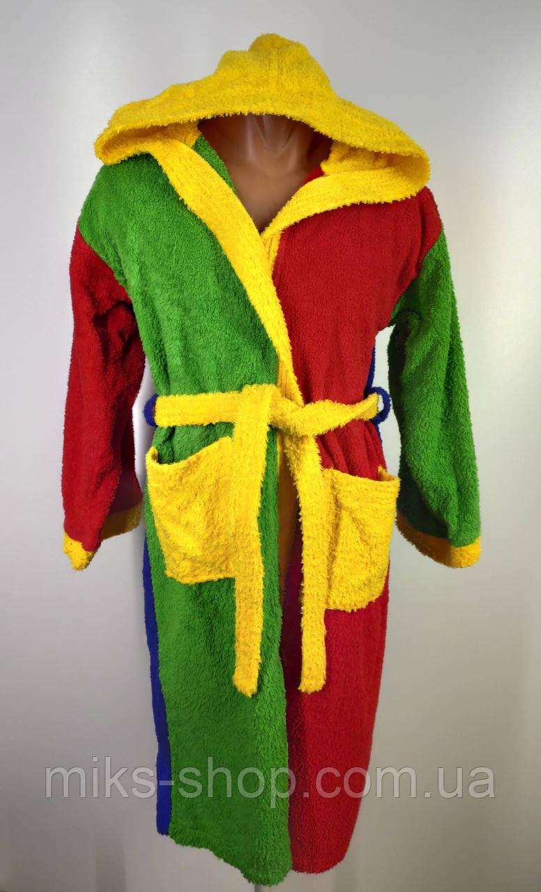 Дитячий  халат з капюшоном Розмір 152(110-х)