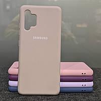 Чехол для Samsung A32 силиконовый противоударный Silicone Case розовый песок