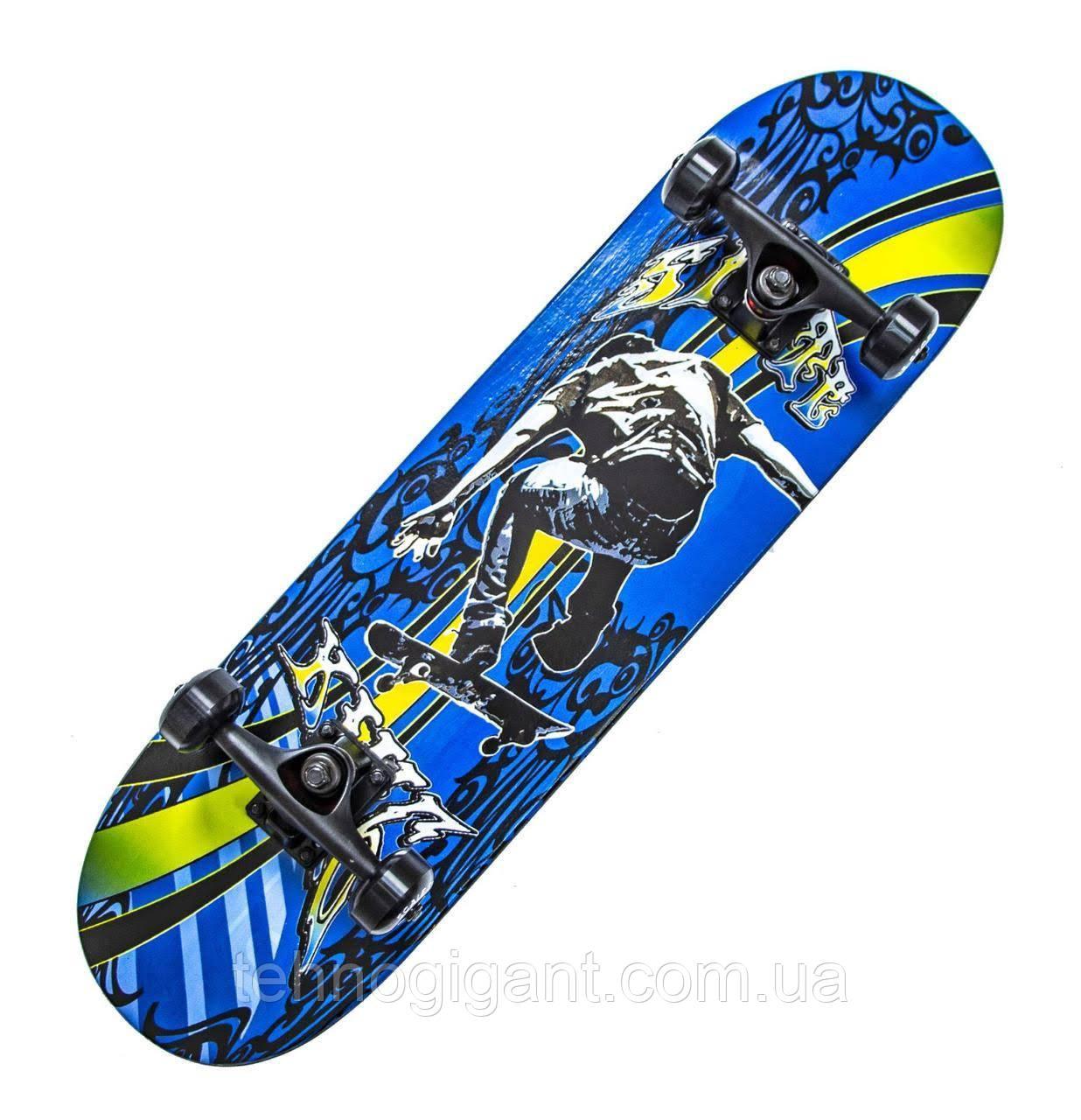 Дерев'яний Скейтборд Scale Sport 79х20 Display King скейт канадський клен для трюків