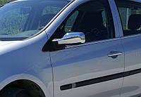Renault Clio III 2005-2012 гг. Наружняя окантовка стекол (4 шт, нерж) OmsaLine - Итальянская нержавейка