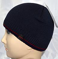 Подростковая вязаная шапка на флисе, фото 1