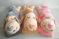 Плед одеяло подушка, игрушка 3 в 1 детская,  іграшка, ковдра дитяча Закоханий пес