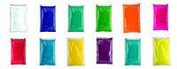 Краска Холи (Гулал), Праздничный набор с 200 пакетов, пакет 50 грамм, для большой компании