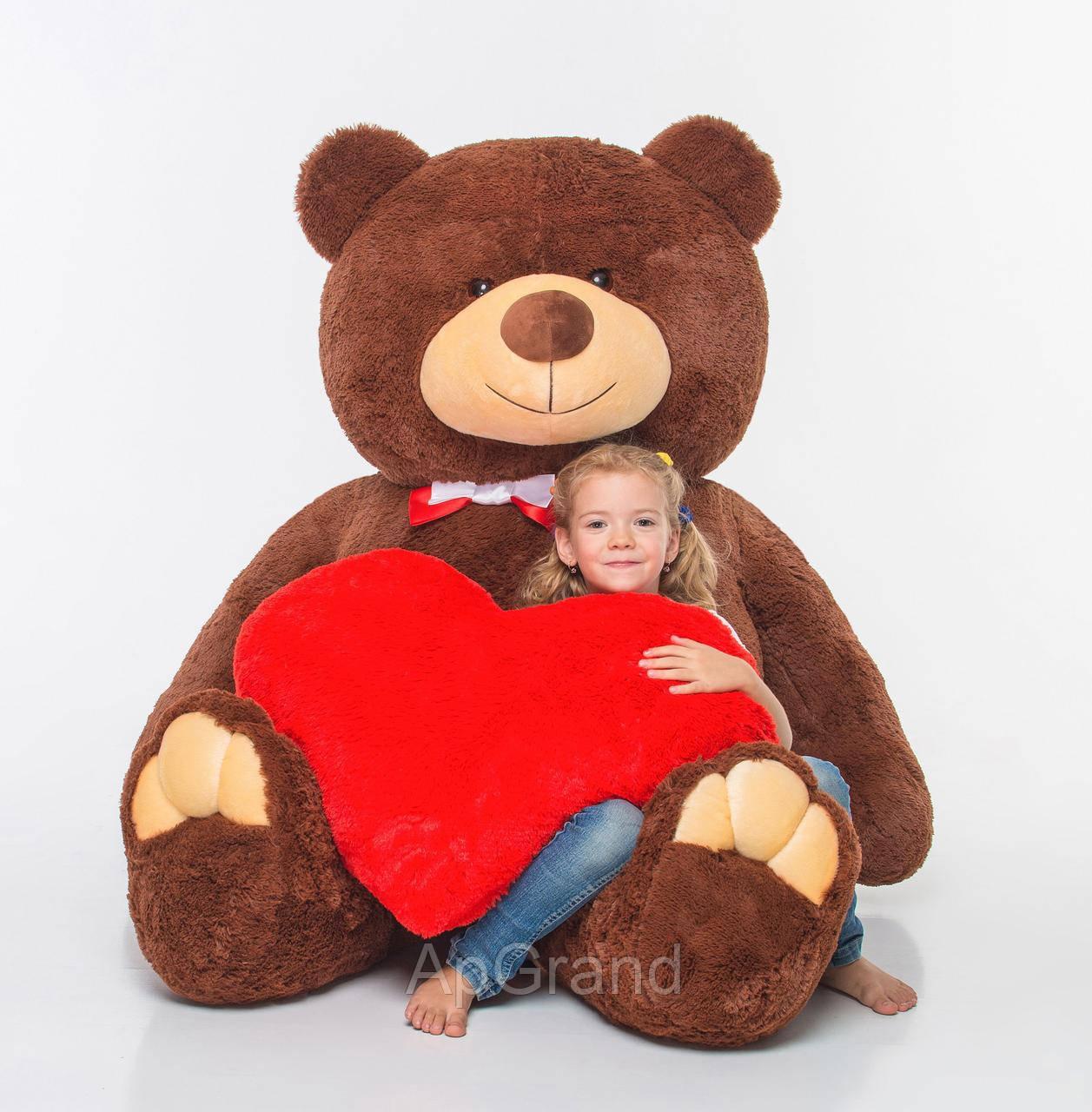 Плюшевий ведмедик із серцем Mister Medved Гаррі Бурий 2 метри