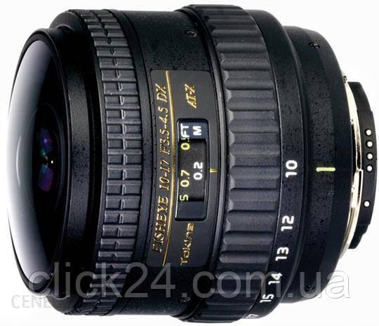 Tokina AT-X 10-17mm f/3.5-4.5 107 DX NH fisheye Nikon