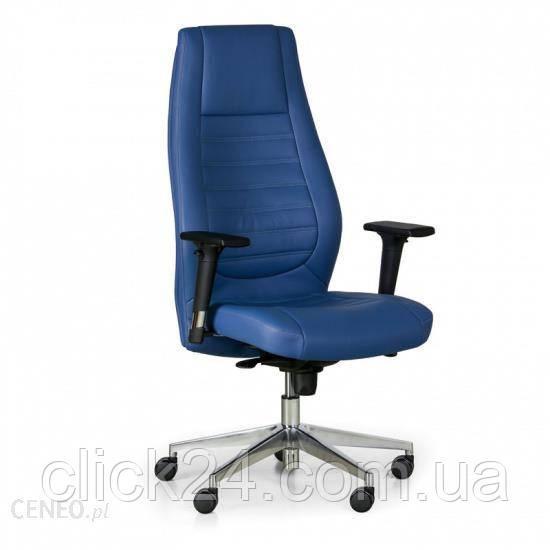 B2B Partner Fotel Biurowy Charter, Prawdziwa Skóra, Niebieski