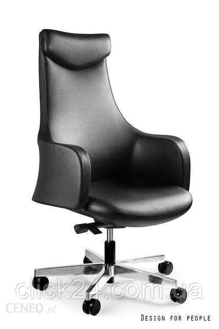 Unique Fotel Blossom Czarny/Ekoskóra Gabinetowy Z Ekoskóry