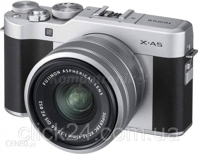 Fujifilm X-A5 srebrny + 15-45mm