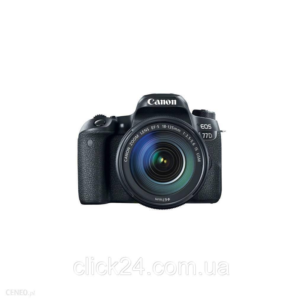 Canon EOS 77D Czarny + 18-135mm