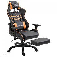 Vidaxl Fotel Dla Gracza Z Podnóżkiem Pomarańczowy (V20206)