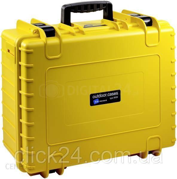 B&W outdoor.cases Typ 6000 RPD z przegrodami Żółta